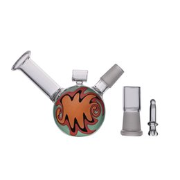 drum para la venta Rebajas Venta caliente Drum Glass bubbler Mini Vapor Hookah 8.5CM Tubo de Agua 14mm Joint Glass Bongs