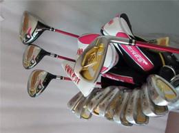 Bâtons de golf tête de couverture bois en Ligne-13 PCS 3 étoiles Honma S-03 Golf Set Femmes Clubs de Golf Driver + Bois de Fairway + Fers + Arbre de Graphite Putter Avec Couvre-Tête