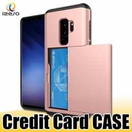 iphone rückentasche Rabatt Für iphone 11 sgp schieben kreditkarte telefon case luxus karten slot brieftasche rückseitige abdeckung für samsung s9plus note 8 kartentasche fällen