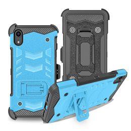 Argentina Para LG Stylo 4 Q7 Plus K10 2018 CV 3 Combo Holster Clip de cinturón Policarbonato Pata de cabra Defensor Armadura PC TPU Cubierta de la caja híbrida Suministro