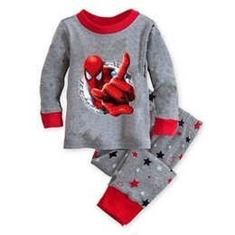 Wholesale Pajama Years - Kids Pajama Set Boys Sleepwear 2-7 Years Girls Pijamas Set Children's pyjama T-shirt + Pants Baby Girl Boy Clothing D12
