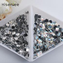 Chiodo a caldo art online-Hotfix Glitter strass Multi-Size Clear AB Crystal DMC Non Hot Fix Strass FlatBack Diamonds indumento Nail Art Stone Decorate