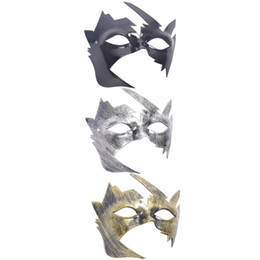 Máscaras fantasia on-line-Masquerade Mask Antigo Escarlate Venetian Mardi Gras Festa de Halloween Máscara Bola Fancy Dress Traje Headwear Fontes Do Partido