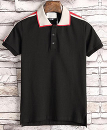 Wholesale Flares Clothing - summer fashion designer luxury brand tag clothing men fabric letter polo shirt turn-down collar casual women t shirt tee polo g t shirt 319