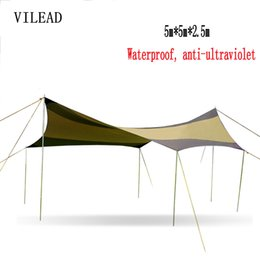 Wholesale Car Tent Canopy - VILEAD 5*5 Car Sun Shelter Outdoor Pergola Anti-Canopy Awning Sun Shade Super Lightweight Camping Tent Yard Rainshed Shed Arbor