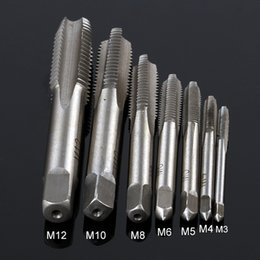 Wholesale Square Tap Set - 7 PCS  SET Group HSS M3 -M12 Mechanical Screwdriver Tapered Square Handle Straight Slot Screw Tapping Metric Plug Hand Drill