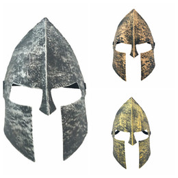Wholesale masquerade halloween costume - 3styles Halloween Costumes Immortal Sparta Mask Retro Warrior Masquerade Vintage Mask Fancy Dress Party mask Movie Memorabilia FFA623 200PCS