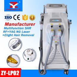 Wholesale Tattoo Removal Light Machine - 5 in 1 Multifunction Strong Energy SHR OPT IPL Laser Hair Removal ND YAG Laser Tattoo Removal Beauty Machine IPL&RF & ND YAG&E-light