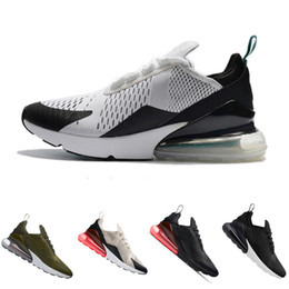Wholesale Womens Red Running Shoes - New 270 Teal Running shoes Navy Mens Flair Triple Black Trainer Sports Shoe Medium Olive Bruce Lee Womens 270s Photo Blue Sneakers 36-45
