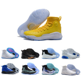 Wholesale more golds - 2018 Yellow More fun more rings Dimes Parade 4 IV Basketball Shoes 4s Black white gold Championship men Training Sports Sneakers 40-46
