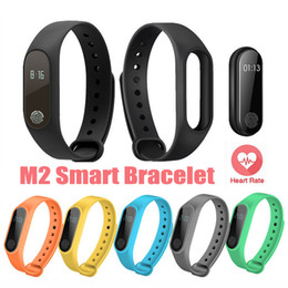 Wholesale Watch Band Packaging - M2 Smart Bracelet smart watch Heart Rate Monitor bluetooth Smartband Health Fitness Smart Band for Android iOS Activity with Retail Package