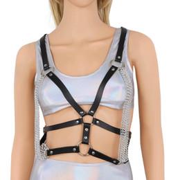 Kadınlar Seksi Deri Demeti Sutyen Püskül Zinciri ile Esaret Lingerie Vücut Göğüs Bel Kemeri Kafes Büstiyer Goth Cosplay Kostüm Tops nereden