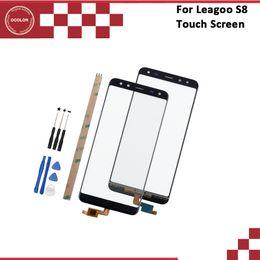 мобильные телефоны leagoo Скидка ocolor For Leagoo S8 Touch Screen Digitizer Front Glass Touch Panel Sensor Replacement For Leagoo S8 Phone +Tools 5.72 Inch