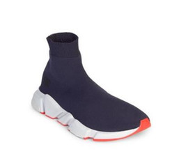 Wholesale High Top Running Shoes Women - Flash Deal Sock Shoe Speed Trainer Running Shoes with Box High Top Sneakers Socks Race Runners Shoes Men Women Sports Shoes Black Red Oreo