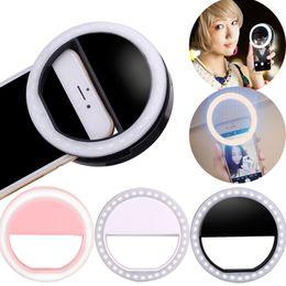 Wholesale Led Mobile Phone Accessories - 2018 Selfie LED Flash Light Universal Mobile Phone Selfie Luminous Ring Clip cellphone selfie lamp Photograph Accessories