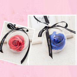 regalos románticos bola de cristal Rebajas Nueva Simulación Rose Jabón Flor de Cristal Cadena de Jabón de Bola de Plástico flor de Rosas Colgantes Ornamentos Del Coche Regalos Románticos Del Banquete de Boda