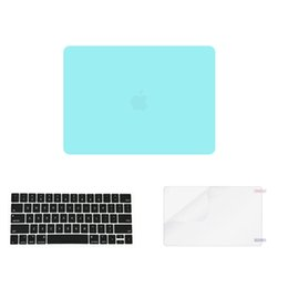 Wholesale Macbook Pro Skin Case - Green 3 in 1 Colorful matte Hard Case skin Plastic Keyboard Cover for macbook pro air laptop(1keycover+1case+1screen proctor)