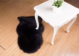 Wholesale Anti Slip Sofa - Free Shipping New Living Room Faux Mat Soft Hairy Carpet Anti-Slip Chair Sofa Shaggy Cover For Bedroom Home Plain Fluffy Area Rugs Washable