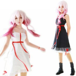 Wholesale Guilty Crown Anime - 2 Colors Anime Guilty Crown Yuzuriha Inori Cosplay Costume Women Slip Black White Dress