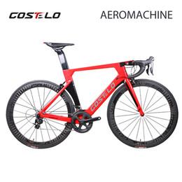 komplette kohlenstoffstraße Rabatt 2018 Costelo AEROMACHINE MONOCOQUE ein Stück Carbon Road Complete Bike Road Fahrradrahmen Räder R8000 Group