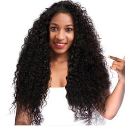 2019 peluca de encaje de seda peruana superior virgen Kinky Curly Silk Top Lace Front Pelucas de cabello humano Virgin Virgin Glueless Full Lace Wig Color de cabello humano # 1B para mujeres negras rebajas peluca de encaje de seda peruana superior virgen