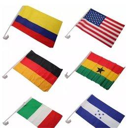 Rusya 2018 dünya kupası araba bayrağı futbol futbol 32 milli takım araba bayrak araba pencere klip bayrağı 30 * 45 cm çift taraflı Banners2018102205 nereden