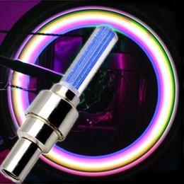 Luzes led para rodas on-line-Luzes da roda da bicicleta à prova d 'água levou luz flash bicicleta, Bicicleta Da Bicicleta Da Motocicleta Carro Roda Lâmpada Pneu De Alumínio Material de Luz Do Carro LEVOU