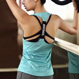 T-shirt da allenamento senza maniche da donna T-shirt da allenamento fitness T-shirt fitness da corsa Maglia sportiva da palestra Top T-shirt da palestra 701 da