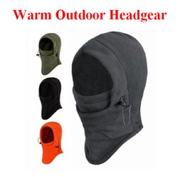 Wholesale Cycling Promotion - Adult Real Promotion Beanie Winter Sports Outdoor Cycling Hat Warm Headgear Earmuffs Riding Cap Balaclava Mask Velvet ouc3048