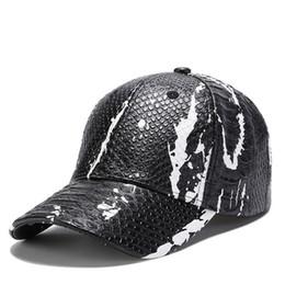 2018 nouveau modèle de peau de serpent en cuir mode snapback chapeaux casquettes de baseball concepteur chapeau gorra marque casquette pour hommes femmes hip hop os livraison gratuite ? partir de fabricateur
