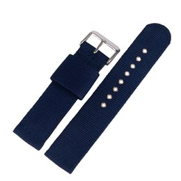 blue nato strap Promo Codes - Nylon Watchband Nato 20mm 22mm 24mm Luxury Nylon Strap Watch Replacement Band Canvas Watch Band Blue