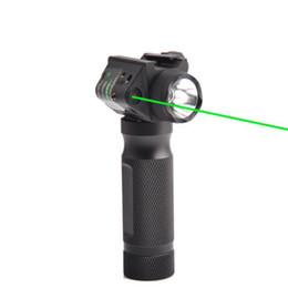 2019 atrações combo Lanterna compacta e Visão Laser Scope Combo 2 Em 1 Tactical Pistola Arma de Caça Rifle Vermelho / Verde Visão Laser Lanterna de Liberação Rápida atrações combo barato