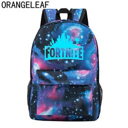 cca1a2912799 cool girls backpacks school Canada - Fashion Fortnite battle royale Cool  Night Luminous Fortnite Backpack School