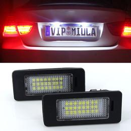 E39 éclairage de plaque d'immatriculation en Ligne-2pcs 24 SMD voiture blanche led lampe de plaque d'immatriculation pour BMW E90 E82 E92 E93 E3 E39 E60 E70 X5 E39 E60 E61 E5 M88 Canbus