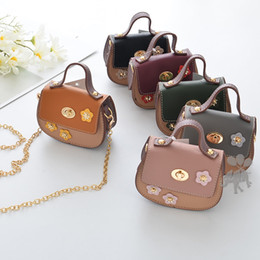 Wholesale Wholesale Mini Backpack Purse - 2018 new Fashion Wholesale flower Childrens Bags PU Leather Bag Girls Shoulder Bag kids Messenger Bag Mini Girls Bags Cheap Purse A1511