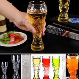 Wholesale beer mug gifts - New 2018 World Cup Wine Glasses Beer Mugs Whiskey Glass 350ml And 450ml Night Club Bar Beer Steins Wine Cup 2018 Russia World Cup HH7-959