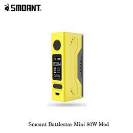 2019 charge électronique Cigarette électronique 80W 100% couleurs originales Smoant Battlestar Mini TC Box Mod Vaporisateur 18650 Mod pour Printemps chargé promotion charge électronique