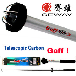 Wholesale Carbon Fish Rod - Telescopic Carbon Fishing Gaff YONG SUNG Octopus Fish Rods Fishing Tackles Equipments Squid Landing Hooks New 2017 DISCOUNT FREE SHIPPING