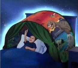 2018 новый стиль дети мечтают палатки световой мультфильм складная палатка открытый палатки детские игры спальный рай палатка от Поставщики мечты ребенка