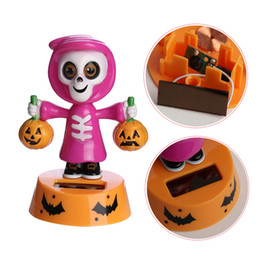 Wholesale Animated Toys - 2018 Hot Car-styling Durable Solar Powered Dancing Halloween Swinging Animated Bobble Dancer Toy Car Decor New Arrival