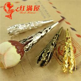 Wholesale A4059 MM Bob DIY rétro coiffure bijoux en gros collier métal perle cap bijoux découvertes fer perles accessoires en filigrane fleurs