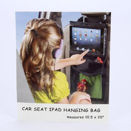 Wholesale Toy Cars Brands - Brand Kids car ipad Tablet hanging bag baby Nappy Bags portable elastic mesh bag Storage for Food Toy Diaper PVC Nylon Pocket
