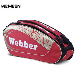 20047693175 Professional Tennis Racket Bag Sports Badminton Shoulder Bag Tennis for Men  and Women for 3 to 6 Rackets with Shoes Storage