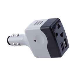 Convertidor 24v dc online-DC 12V / 24V a AC 220V Car Auto Convertidor convertidor adaptador cargador con carga USB