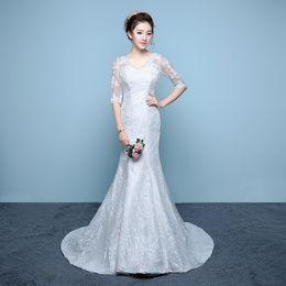 Wholesale Evening Dress Thin Straps - The waist fishtail Evening Dresses bride Slim thin strap shoulder Evening Dresses
