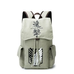 backpack naruto UK - Canvas Attack On Titan Totoro Death Note Tokyo Ghoul Naruto School Bag Backpack Male female Sac A Dos Travel Backpack Rucksack