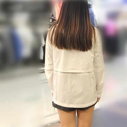 modèles de vestes dames Promotion 2018 Hommes Printemps et Automne À Manches Longues Décontracté Pur Blanc Femmes Manteau Explosion Modèles Nouveau Veste À Capuche Veste Taille S-XL Nouveautés