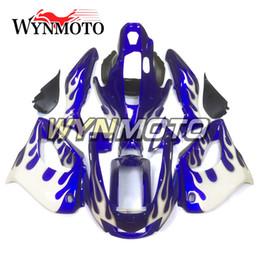 Carenado yzf 1997 online-Carenado completo ABS de la motocicleta para Yamaha YZF-1000R Thunderace 1997 - 2007 98 99 04 05 06 Fundas de inyección Azul Blanco Carrocerías Carenes