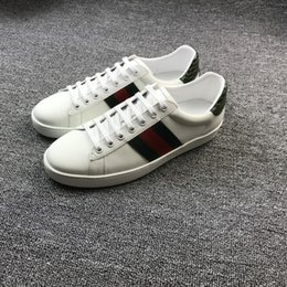 Wholesale Brought Round - Luxury Goods Male Shoe Red Green Weave Bring Split Joint Classic Fund Chalaza Small White Shoes Man Low Help Genuine Leather Casual Shoes