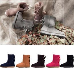 scarpe da neve della luna Sconti 2018 inverno New UGG Australia Classic stivali da neve Qualità economici donne stivali invernali moda sconto scarpe da caviglia taglia 5-12